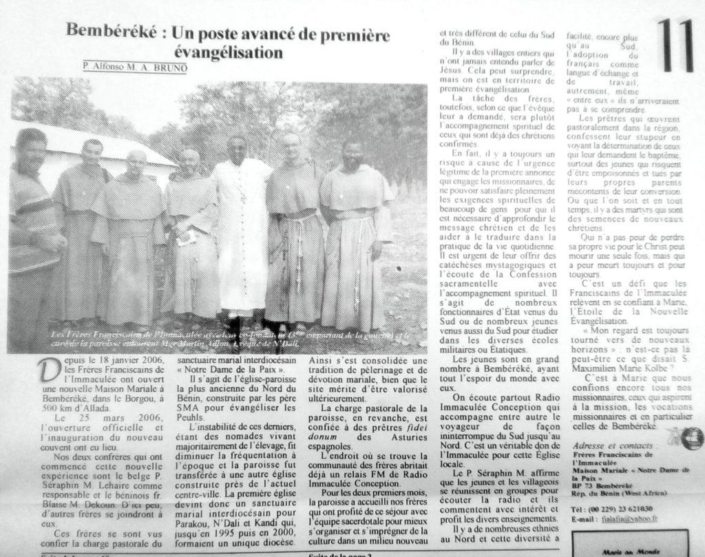 Marie au Monde Mai 2006